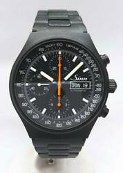 Sinn 144.st.s.jub Chronograph 300 Limited Automatic Black Dial Stainless Menandrsquos