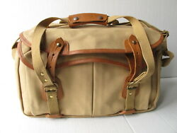 Billingham Tan Canvas And Leather Large Photo Shoulder Bag No Padded Inserts
