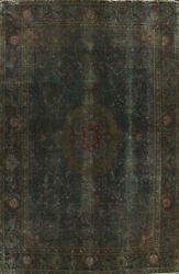 Antique Floral Overdyed Tebriz Hand-knotted Area Rug Oriental Wool 9x12 Carpet