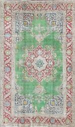 Antique Floral Tebriz Oriental Overdyed Area Rug Wool Hand-knotted 6x10 Carpet