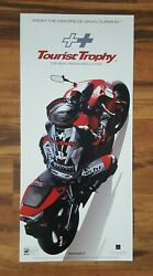 Tourist Trophy Video Game Store Display Sign 2006 Sony Ps2 Playstation 2