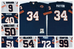 Vintage Chicago Bears Throwback Replica Jersey 9 34 40 50 51 54 72 99