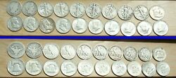 Lot C 20 Halves Barber Walking Liberty Franklin Kennedy 90 Silver Coins Rzcs