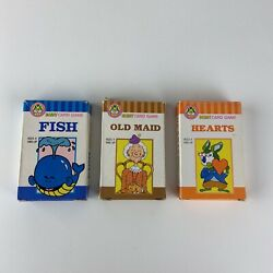 Benny Card Game Hearts Old Maid Fish Complete Deck Vintage Playing Cards Set