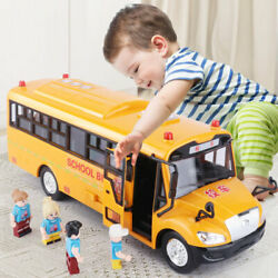 School Bus Toys Car Model Lighting Toys For Kids Educational Interactive