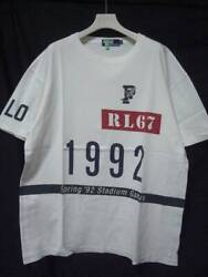 1992 Polo Stadium 92 T-shirt White Size L Good Condition Rare Used