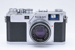 [excellent+++++] Nikon S4 Silver Body + Nikkor-h 5cm F2 Overhauled From Japan