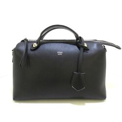 Auth Fendi By The Way 8bl146-1d5 Black Leather Womens Shoulder Bag