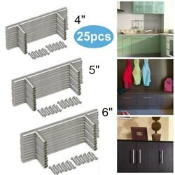 25pack Brushed Nickel Kitchen Cabinet Pulls Stainless Steel Drawer T Bar Handles