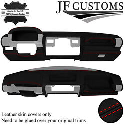 Red Stitch Leather Dash Dashboard Cover For Land Rover Discovery Mk1 94-98