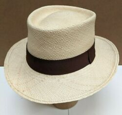 Genuine Panama Hat Second From Leading Brand With Small Defect/mark