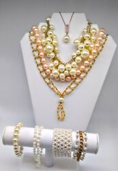 Vintage Estate Jewelry Find Collection Of Faux Pearl Jewelry Timeless Classics