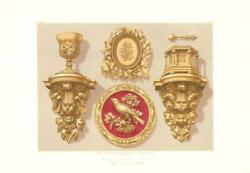 1863 Wood Carvings Perry Rogers Chromolithograph Wa71