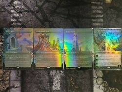 Urza's Mine, Power Plant, Tower, Karn Liberated Double Master Borderless Foil Nm