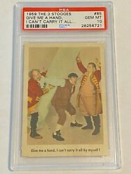 1959 Fleer The 3 Three Stooges 85 Give Me A Hand Pop 1 Of 6  Psa 10 High Grade