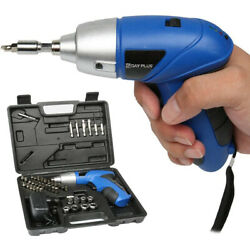 Cordless Electric Screwdriver And Bit 44pc Set Rechargeable Drill Power Tool Kit