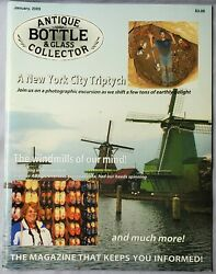 Antique Bottle And Glass Collector Magazine January 2009 Articles Nyc, Amsterdam