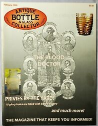 Antique Bottle And Glass Collector Magazine February 2009 The Blood Doctor