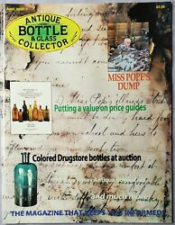 Antique Bottle And Glass Collector Magazine Apr 2009 Putting Value To Price Guides