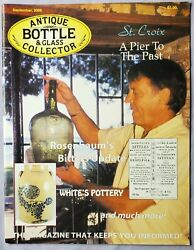 Antique Bottle And Glass Collector Magazine September 2009 St. Croix