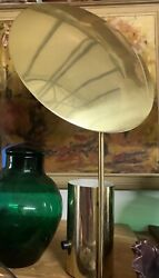 George Nelson Andldquohalf Nelsonandrdquo Brass Table Lamp Koch And Lowy 1970s Production
