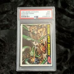 1962 Mars Attacks 45 Fighting Giant Insects Psa 9 Oc Mint