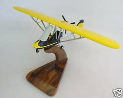Rx-550 Beaver Ultralight Airplane Handcrafted Wood Model Large