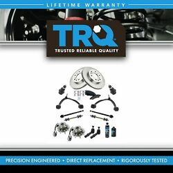 Trq 17pc Kit Brake Pads And Rotors Tie Rods Control Arms For Silverado Sierra 1500