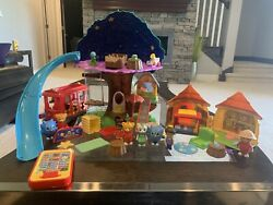 Rare 3-in-1 Daniel Tiger Transformation Treehouse And Jungle Hut And Trolley