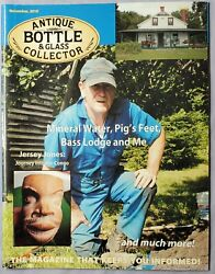 Antique Bottle And Glass Collector Magazine November 2010 Mineral Water
