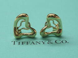 And Co Elsa Peretti 18kt Heart Huggie Yellow Gold Earrings 17mm