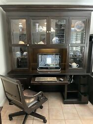 Drexel Heritage Two Piece Desk And Hutch With Chair