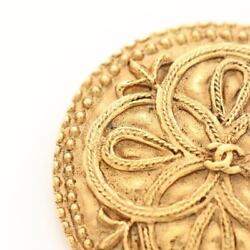 Authentic Coco Mark Brooch Gp Gold 23 Previously Owned No.7592