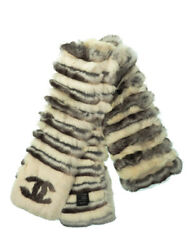 Coco Mark Made In Italy Fur Muffler Women And039s Week Warranty No.7755