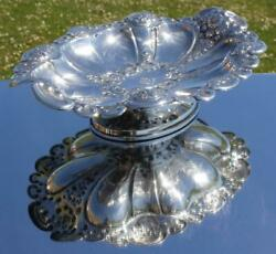 Atlantic Transport Line Victorian Silver Plate Footed 12 Fruit Bowl