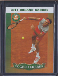 2014 1/10 Roger Federer French Open Tennis Card Roland Garros Limited Edition