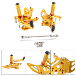 Rear Set Footpegs Rearset Footrest Foot Peg Pedals Gold Fit Yamaha Yzf R25 14-17
