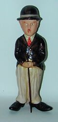 Rare Charlie Chaplin Wind-up Celluloid Toy 8 1/2andrdquo Tall 1930s Japan
