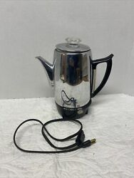 Vintage General Electric Automatic Percolator Coffee Pot 10 Cup 48p41 Works