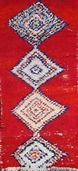 Memorial Deal Thick-plush Vintage Geometric Moroccan Hand-knotted Area Rug 3and039x6and039