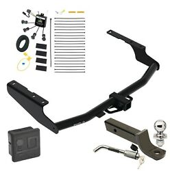 Trailer Tow Hitch For 18-21 Rx350l Except Dual Exhaust Wiring 2 Ball Mount Lock