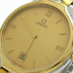 Previously Owned Omega Devil Symbol Line Mens K18 Row Gold Combination No.6584