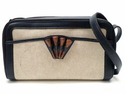 Authentic Hermes Shoulder Bag With Golf Tee Navy Gold Fittings Bock No.7785