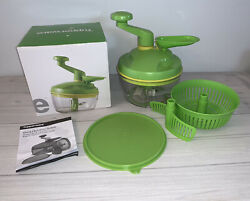 Tupperware Green Quick Chef Pro System Time Saver With Box And Manual Accessories