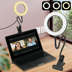 Led Ring Light Video Conference Lighting Dimmable For Selfie Makeup Zoom Meeting
