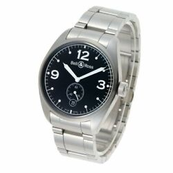 Bell And Ross Vintage 123 123.a Automatic Black Dial Small Second Stainless Menandrsquos