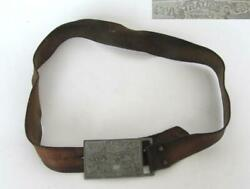 1930s Antique Levi Strauss Levi's Leather Belt And Buckle