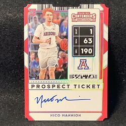 2020 Contenders Draft Picks Nico Mannion 1 Of 1 Rookie Auto 1/1 Warriors B7a