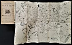 1893 Antique Worcester Ma Directory W Foldout Map Genealogy Tons Of Ads