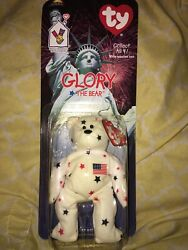 """Ty Glory The Bear """"rare"""" Bear And Package Are In Excellent Condition"""